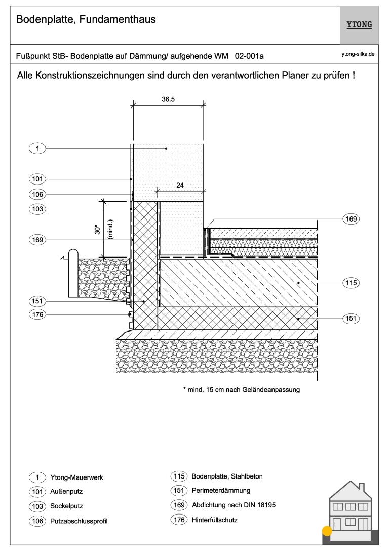 Stahlbetonbodenplatte auf Dämmung 02-001a