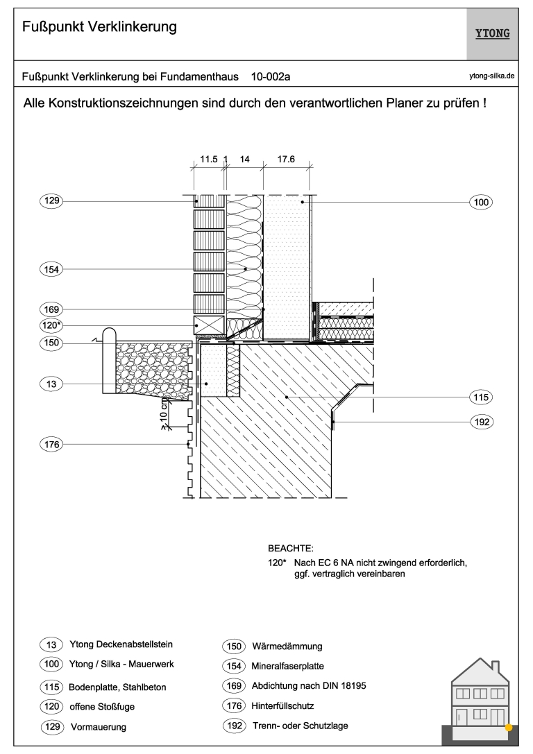 Stahlbetonbodenplatte (Frostschürze) 10-002a