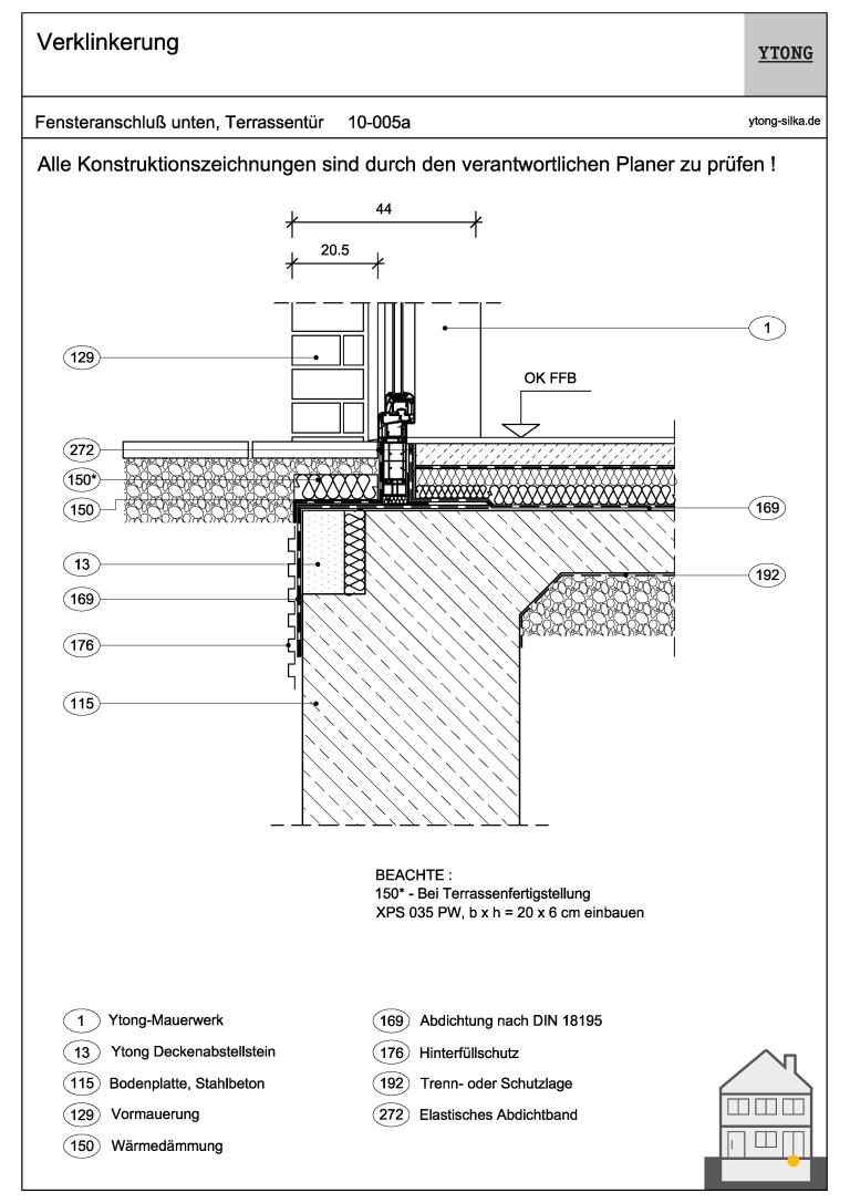 Bodenanschluss Fenstertür 10-005a