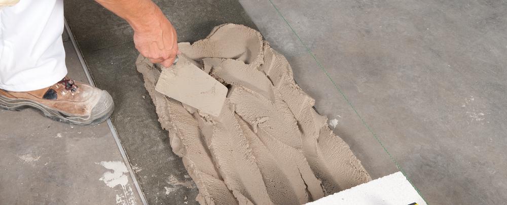 erste Schicht setzen ytong porenbeton steine mauern