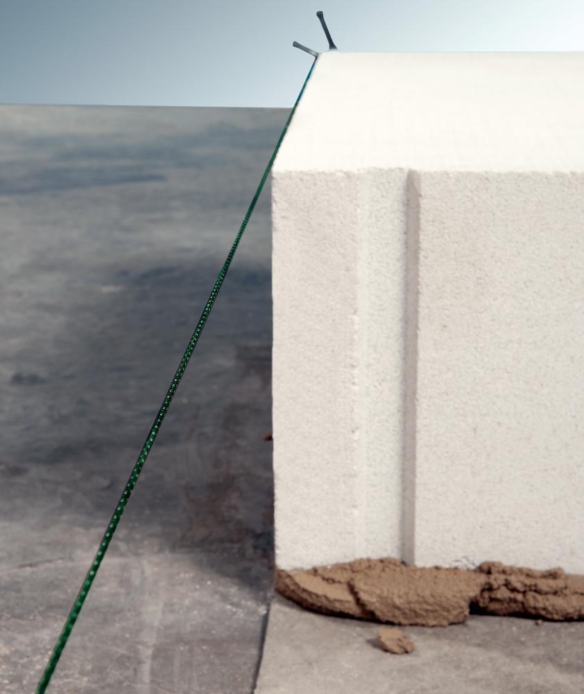 Maurerschnur spannen, an der sich die Steine orientieren ytong steine porenbeton