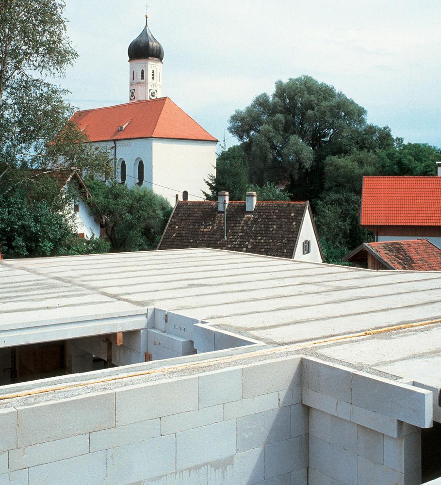 Decke erstes Obergeschoss aus Ytong Deckenelementen