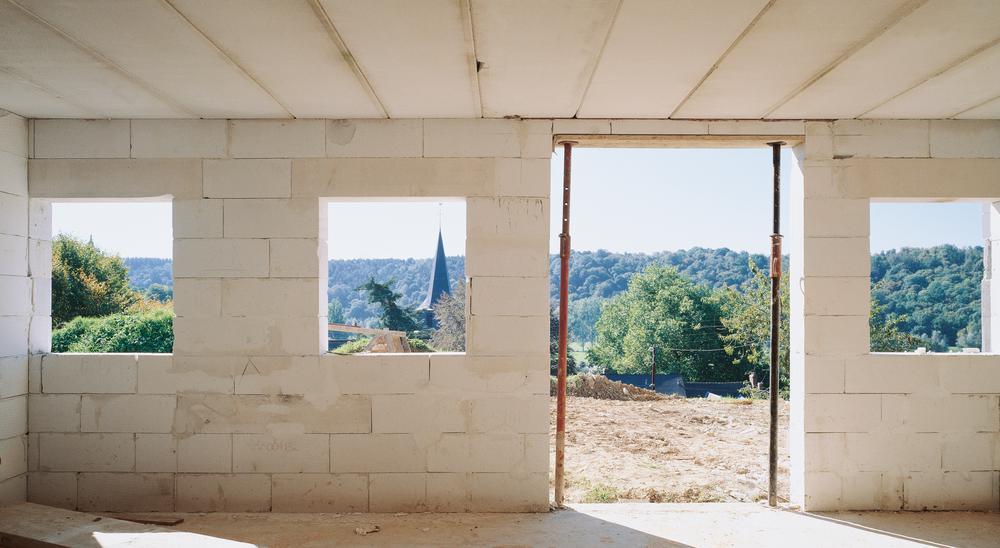 Deckenkonstruktion: Montierte Ytong Deckenelemente