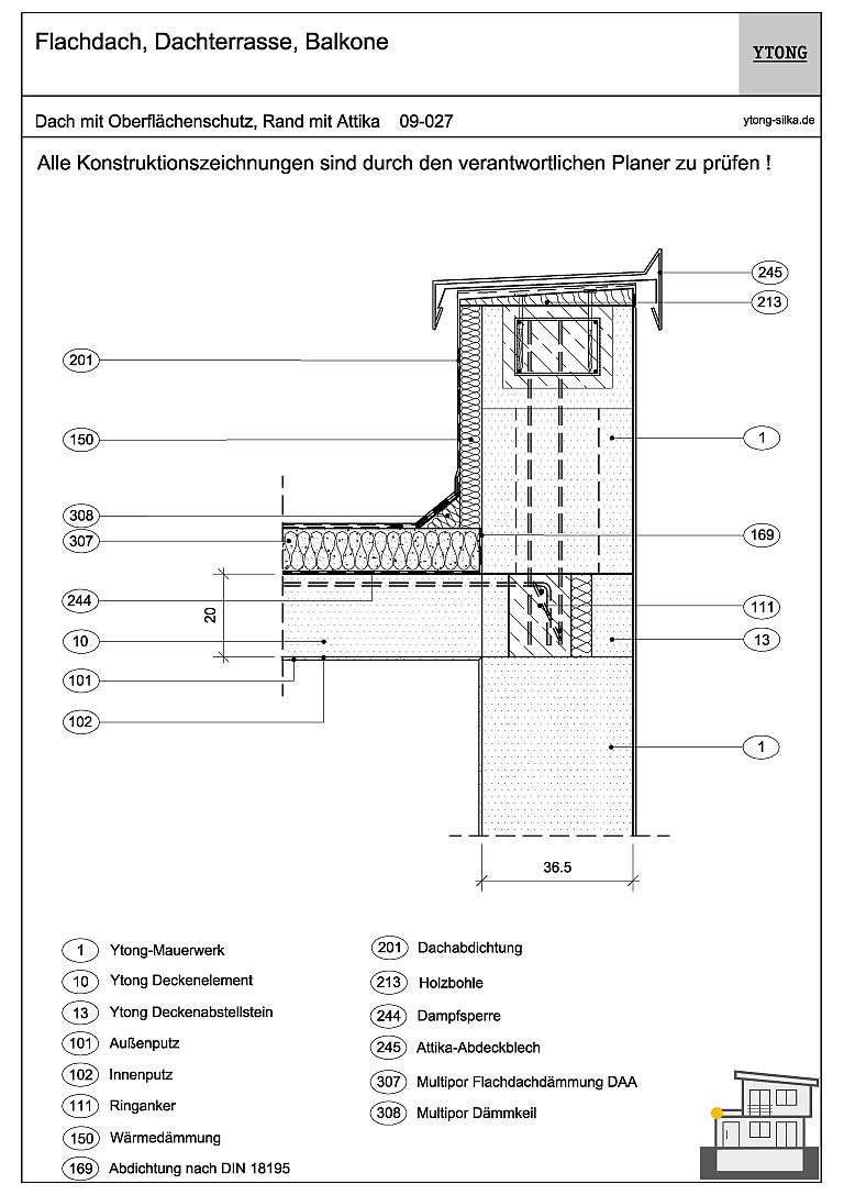 Favorit Flachdach: Flachdachaufbau & Flachdachkonstruktion - Xella CO57