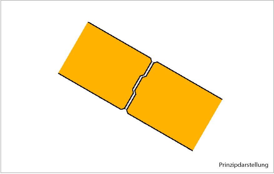 Abb. 2: Vermörtelte Plattenfuge mit Ytong fix P Dünnbettmörtel