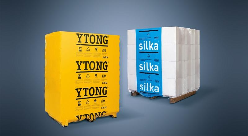 Ytong und Silka Paletten